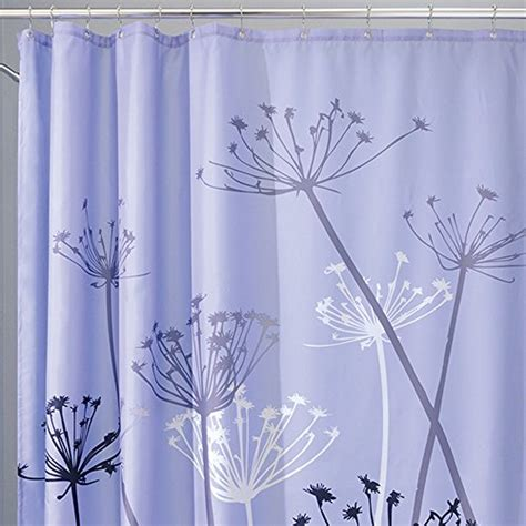 purple and gray shower curtain interdesign thistle fabric shower curtain 72 x 72 inch
