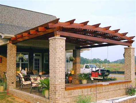Covered Front Porch Plans by Pergola Design Wood Crafters