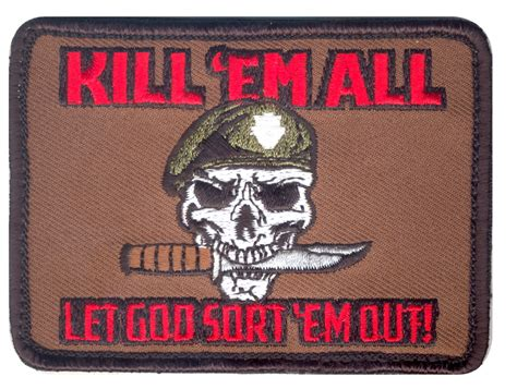 special ops patch special ops kill em all rebel skull w knife