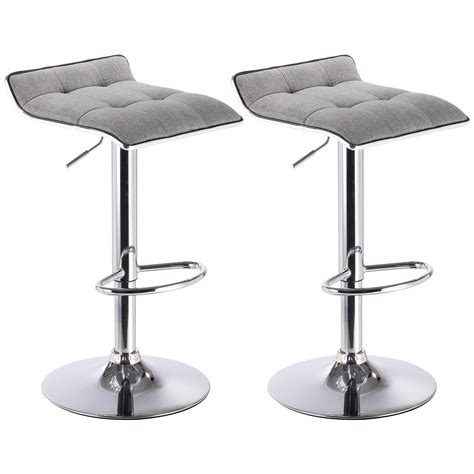 Bar Stool Kitchen Set by Bar Stools Set Of 2 Linen Stool Kitchen Breakfast Chair