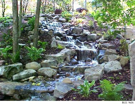 diy backyard stream small pond waterfall ideas memes