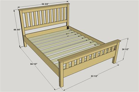 queen bed plans classic craftsman style queen bed buildsomething com