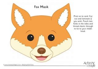 fantastic mr fox mask template fox mask template
