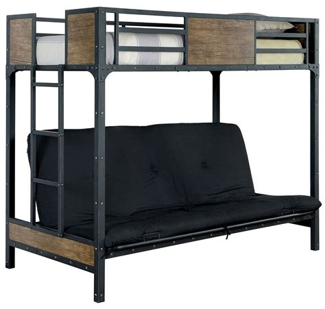 twin bed futon clapton twin bed with futon base from furniture of america