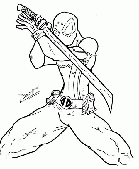 deadpool coloring pages pdf free printable deadpool coloring pages for kids coloring