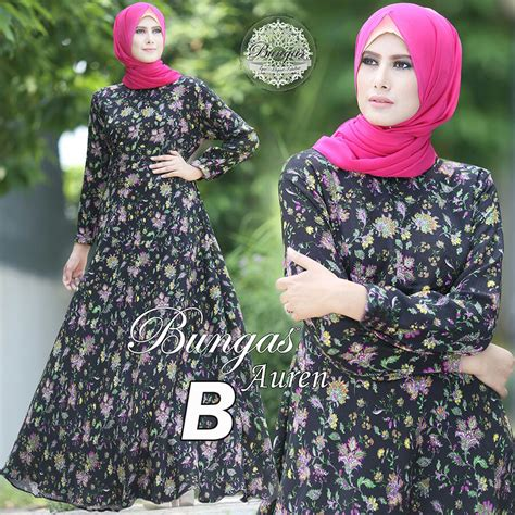 Baju Gamis Dress Maxy Linen Import Busui Frendly auren basic dress b baju muslim gamis modern