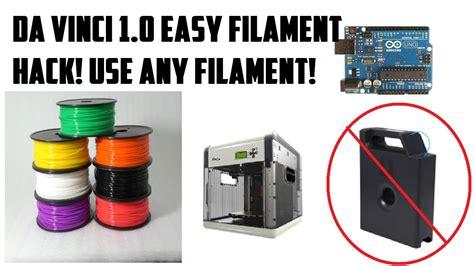 xyz filament resetter arduino da vinci 1 0 filament reset easy works use 3rd party