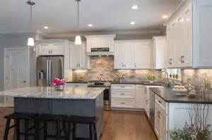 delightful White Kitchen Island With Granite Top #1: contemporary-kitchen.jpg