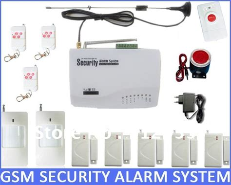 wireless home security gsm alarm system 5 window door