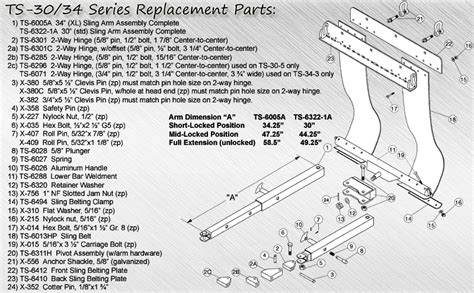 tow truck parts diagram replacement parts for ts 30 34 series