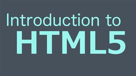 tutorial html programming introduction to html5 html programming tutorial youtube
