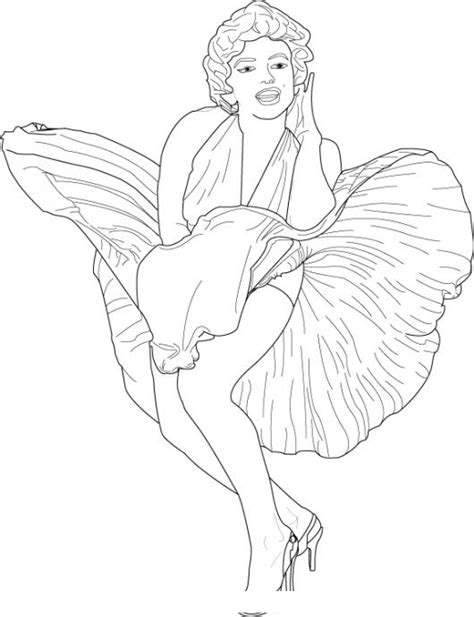 marylin monroe coloring page coloring pages drawings marylin monroe coloring pages