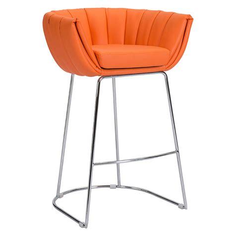 modern orange bar stools modern modern barstools leandra orange stool eurway