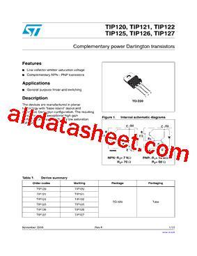 transistor tip 121 datasheet tip121 datasheet pdf stmicroelectronics