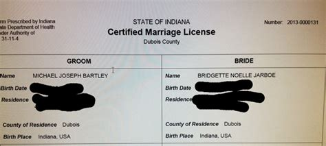 Free Indiana Marriage License Records Same Marriage Certificates Being Issued Dubois County Free Press