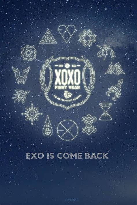exo xoxo iphone wallpaper exo logo exo xoxo teaser pinterest logos boss and exo