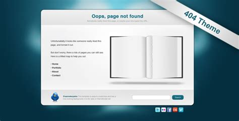 Drupal 404 Template by Torned Out 404 Template By Studiosanne Themeforest
