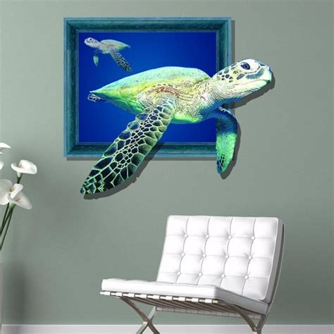 pag sticker 3d wall decals sea turtle marine turtle wall