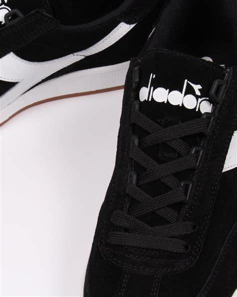 Diadora Clasic Original diadora suede trainers black white classic retro tennis