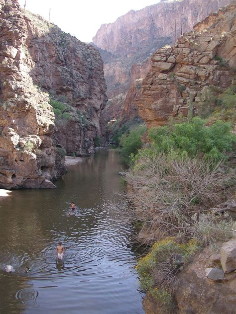 and fish az fish creek lower canyoneering arizona
