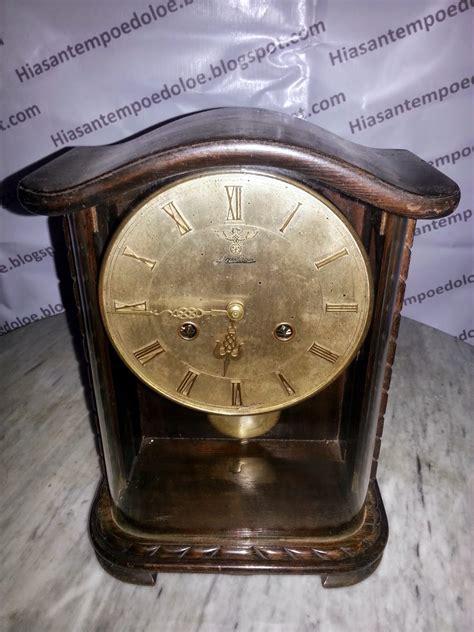 Model Baru Tutup Kaca Ukuran 32cm Kenop Bulat hiasantempoedoloe jam duduk antik mauthe mantle clock
