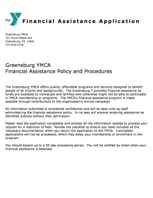 Financial Assistance Letter For Ymca template letter of application forms fillable