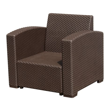 Outsunny Rattan Style Resin Wicker Outdoor Furniture Wicker Look Patio Furniture
