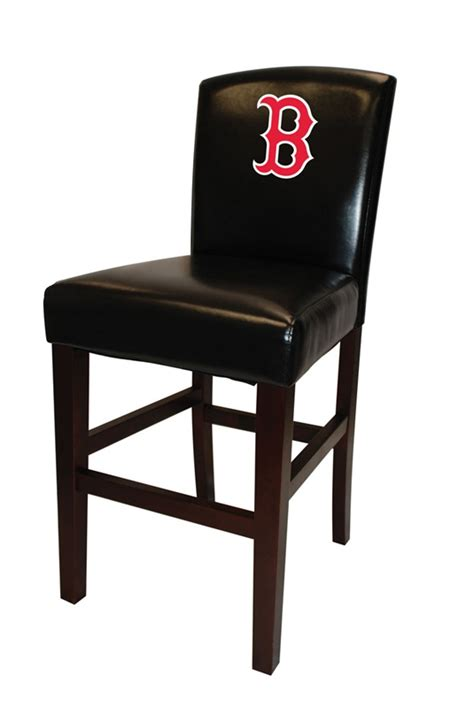 30 seat height bar stools mlb boston red sox 30 quot seat height bar stool by coaster 102rsox