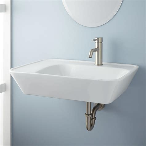 reina wall mount bathroom sink