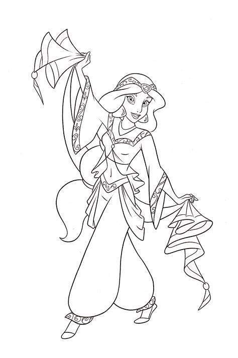 coloring pages walt disney princess walt disney coloring pages princess jasmine walt