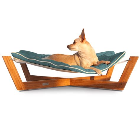 hammock bed pet lounge studios bambu cross hammock pet bed in blue petco