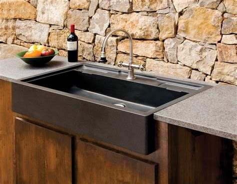 Tuscan Kitchen Design by Salus Outdoor Kitchen Sink Stone Forest