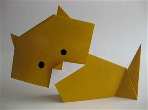 simple origami cat origami october 2011