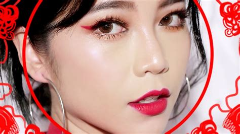 new year make up makeup l lunar new year makeup look