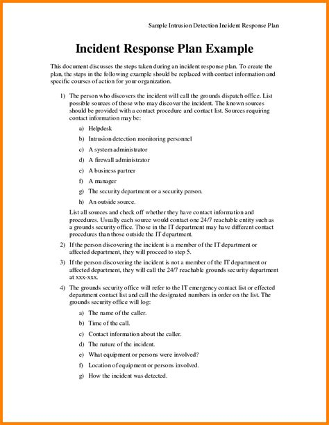 information security incident response plan template 3 incident response template lease template