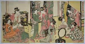 Japanese House Design Japaneseprints London Kitagawa Utamaro
