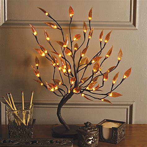 led 39 inch lighted brown branches bed bath beyond 22 inch brown wrapped amber leaf led lighted tree bed
