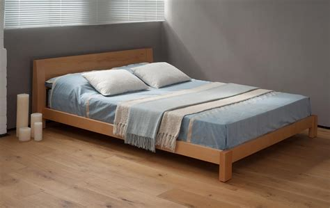 wooden bed java low chunky bed natural bed company