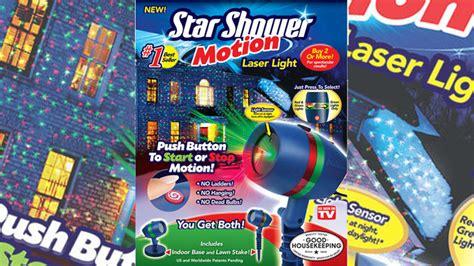 star shower motion white lights review star shower motion laser light as seen on tv in