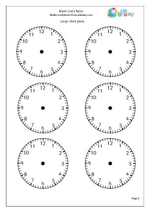 clock faces time maths worksheets for year 2 age 6 7