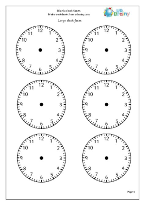 search results for blank clock faces worksheet