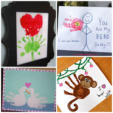 craft card ideas s day handprint craft card ideas crafty morning