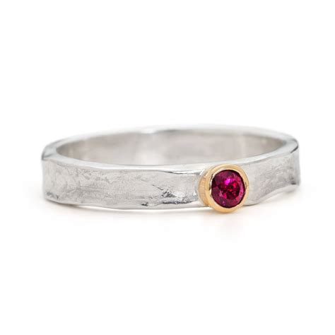 designer ruby gold and sterling silver ring by alison