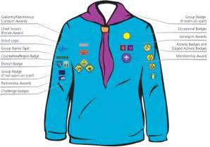 which side does st go on 1st liss scout group beaver sewing guide 1st liss scout