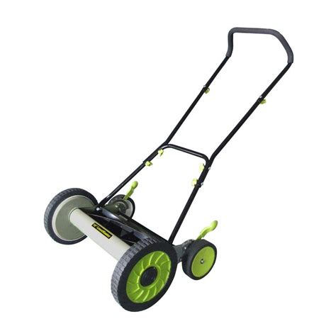 lawnmaster 16 in walk reel manual push mower