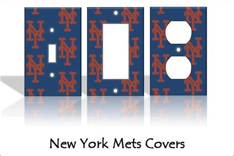 new york mets light switch covers baseball mlb home decor