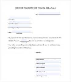 Renters 30 Day Notice Template by 30 Day Notice Letter Templates 9 Free Documents In Word Pdf