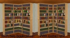 Corner Library Bookcase Mod The Sims Corner Unit For Dahlen Bookcase