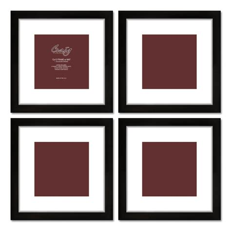 10 X 14 Picture Mat - craig frames 14x14 black frame white mat with opening for