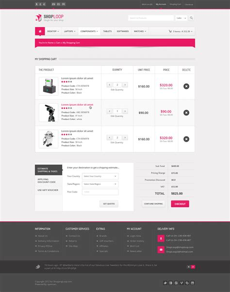shoploop responsive html5 ecommerce template by ahmedchan